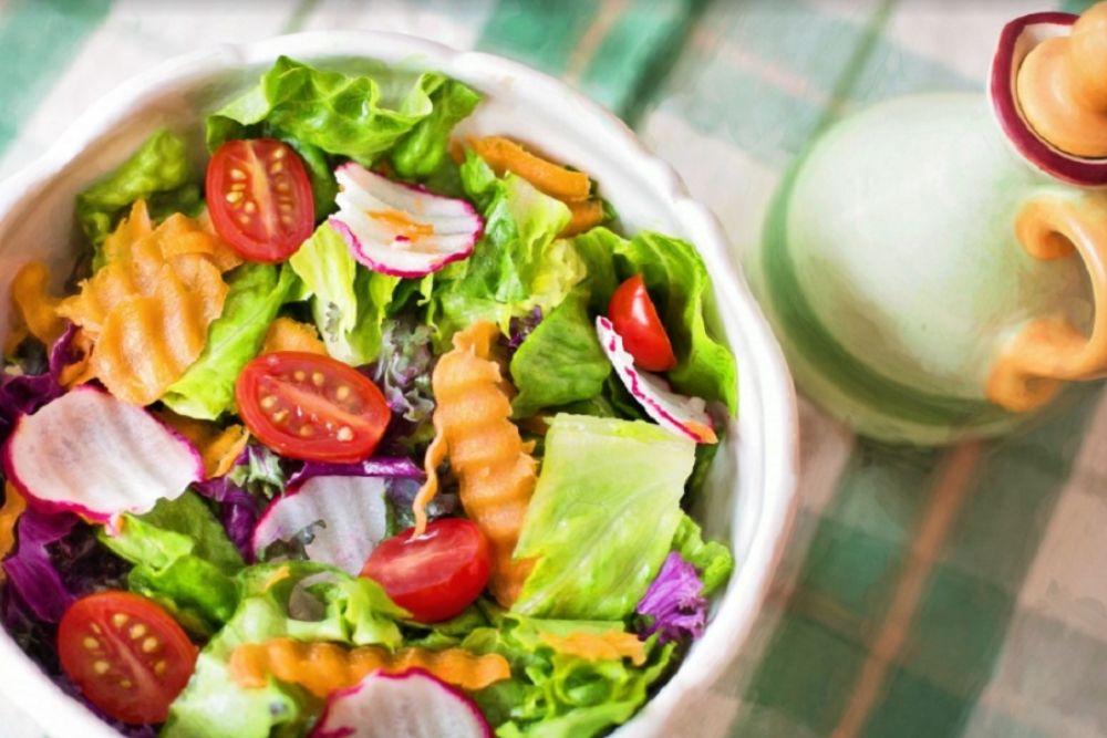vegetarische salade boordevol eiwitten