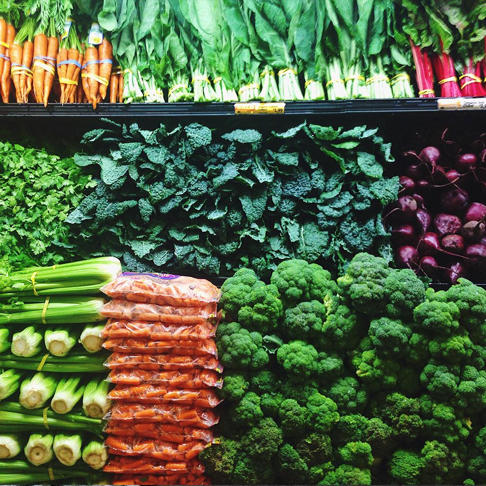 allerlei donkere blad groenten