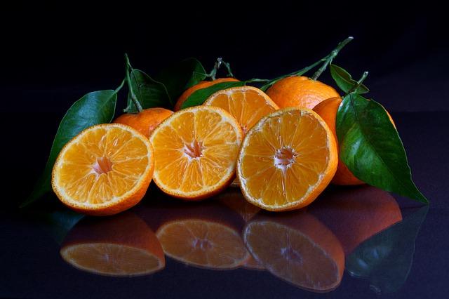 Lekkere mandarijnen die het immuunsysteem en de collageen aanmaak versterken.