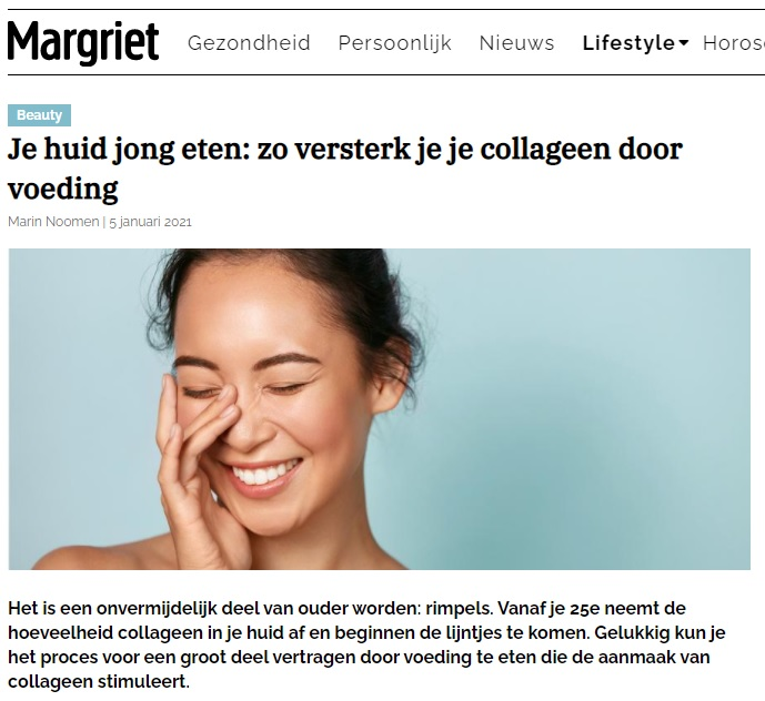 artikel op margriet online over het collageen kookboek