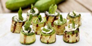 Gegrilde Courgette Roll-Ups met ricotta kaas